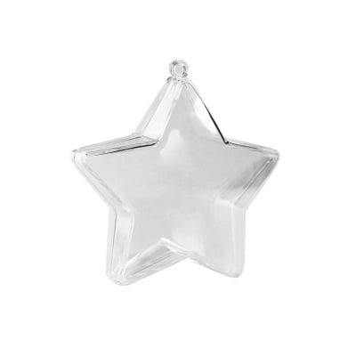 Звезда от пластмаса, 80х36 mm, прозрачна