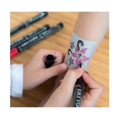 Писец за татуировки Tattoo Pen, връх четка