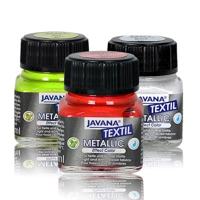 Текстилна боя, Metallic JAVANA, 50 ml /за светла и тъмна основа/