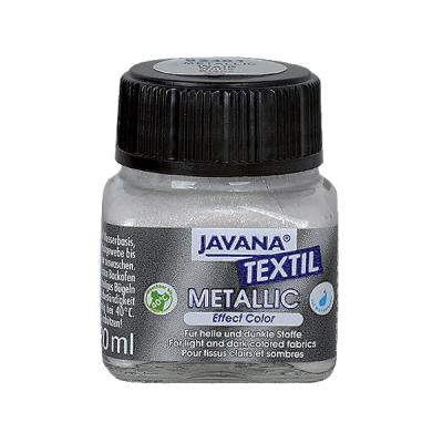 Текстилна боя Metallic JAVANA, 20ml, сребро