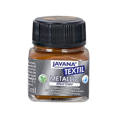 Текстилна боя Metallic JAVANA, 20ml, златист бронз