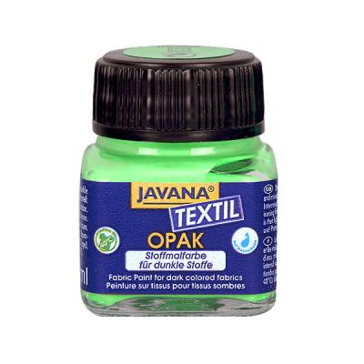 Текстилна боя Opak JAVANA, 20 ml, тревно зелена