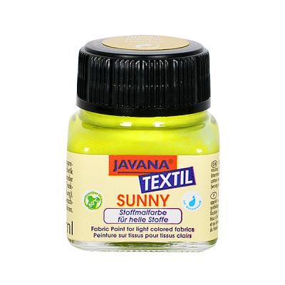 Текстилна боя Sunny JAVANA, 20 ml, лимонено жълта