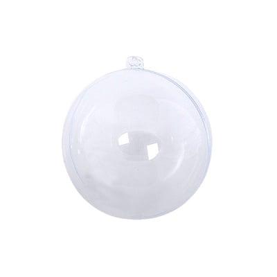 Топка от пластмаса, ф 60 mm, прозрачна