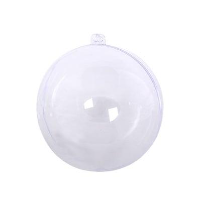 Топка от пластмаса, ф 80 mm, прозрачна
