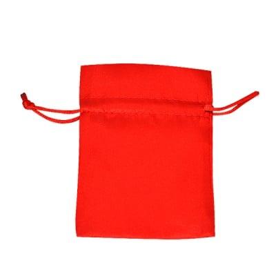 Торбичка подаръчна сатен, 9 x 12 cm, червена