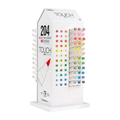 Дисплей за маркери TOUCH TWIN BRUSH, 72 цвята, 191 x 155 x 390 mm, празен