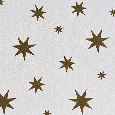 Варио картон, 300 g/m2, 50 x 70 cm, 1л, бял със златни звезди