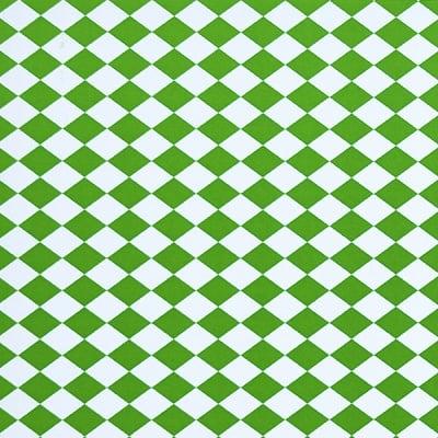 Варио картон, 300 g/m2, 50 x 70 cm, 1л, бял/зелен на карета/ромбове