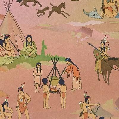 Варио картон, 300 g/m2, 50 x 70 cm, 1л, индианци/ каубои