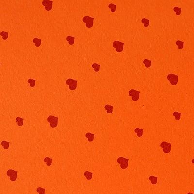 Варио картон, 300 g/m2, 50 x 70 cm, 1л, оранжев/червен на сърчица