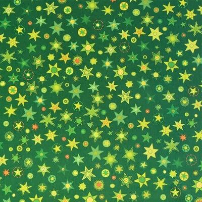 Варио картон, 300 g/m2, 50 x 70 cm, 1л, зелен на съзвездия