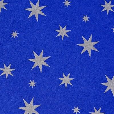 Варио картон, 300 g/m2, 50 x 70cm, 1л, патладжанен със сребърни звезди