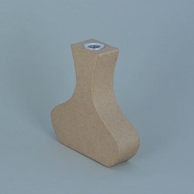 Ваза от папие маше с алуминиева вложка, форма А, 12,5 x 11,5 x 3 cm, 2 бр.