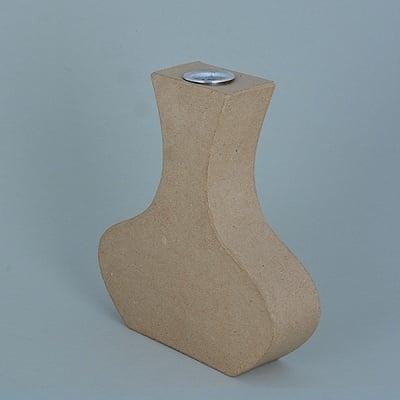 Ваза от папие маше с алуминиева вложка, форма A, 16,5 x 15 x 4 cm, 2 бр.