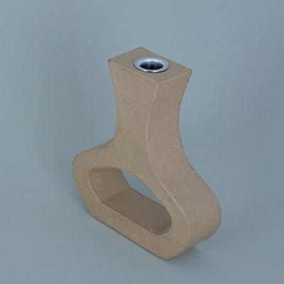 Ваза от папие маше с алуминиева вложка, форма A, 21,5 x 19,5 x 5 cm, 2 бр.