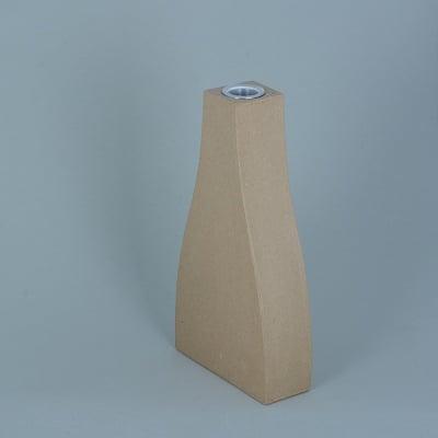 Ваза от папие маше с алуминиева вложка, форма B, 14 x 7,5 x 3 cm, 2 бр.