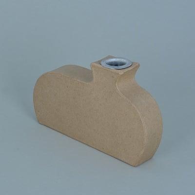 Ваза от папие маше с алуминиева вложка, форма B, 15,5 x 9,5 x 3 cm, 2 бр.