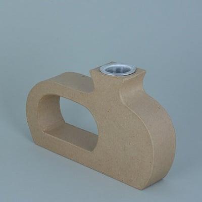 Ваза от папие маше с алуминиева вложка, форма B, 21 x 13 x 4 cm, 2 бр.