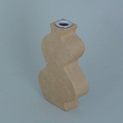 Ваза от папие маше с алуминиева вложка, форма D, 14 x 8,5 x 3 cm, 2 cm, 2 бр.