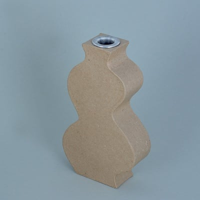 Ваза от папие маше с алуминиева вложка, форма D, 18,5 x 11 x 4 cm, 2 бр.