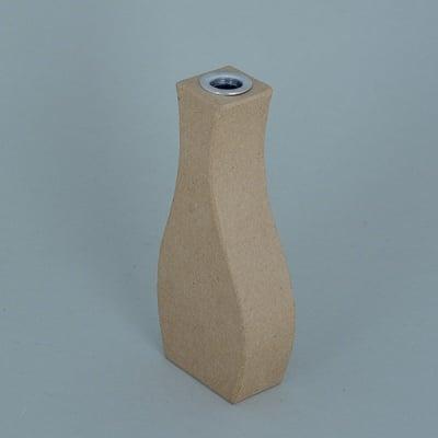 Ваза от папие маше с алуминиева вложка, форма E, 14,5 x 6,5 x 3 cm, 2 бр.