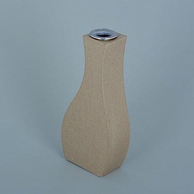 Ваза от папие маше с алуминиева вложка, форма E, 19 x 8,5 x 4 cm, 2 бр.