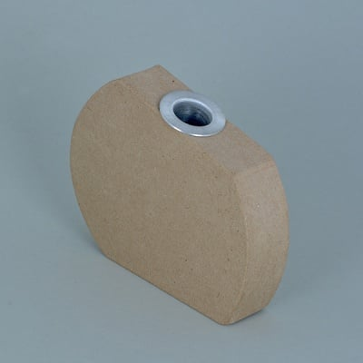 Ваза от папие маше с алуминиева вложка, форма F, 14 x 11 x 3 cm, 2 бр.