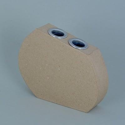 Ваза от папие маше с алуминиева вложка, форма  F, 18,5 x 14,5 x 4 cm, 3 бр.