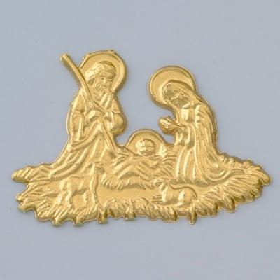 Восъчна декоративна фигура, Heilige Familie, 80 x 55 mm, 1 бр., златисто