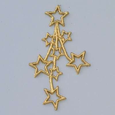 Восъчна декоративна фигура, Sternenfeuerwerk, 50 x 90 mm, 1 бр., златисто
