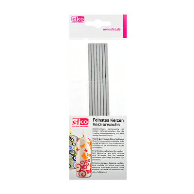 Восъчни ленти, плоски, 200 x 3 mm, 7 бр., сребристо