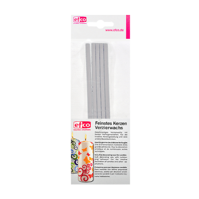 Восъчни ленти, плоски, 200 x 4 mm, 5 бр., сребристо