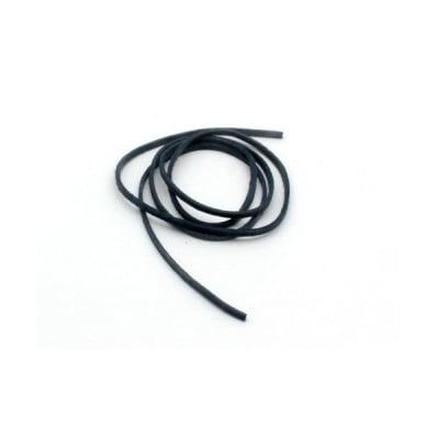 Връв от естествена кожа за амулет, Lederband, тъмно синя, 10 бр. в пакет