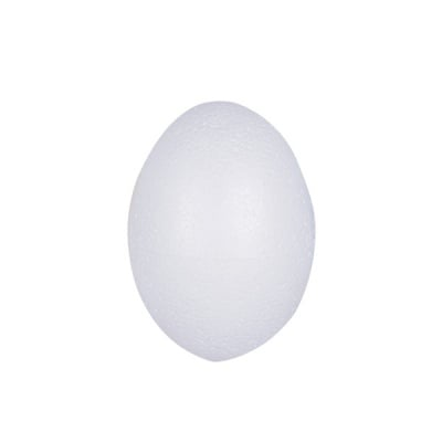 Яйце от стиропор, бял, H 70 mm