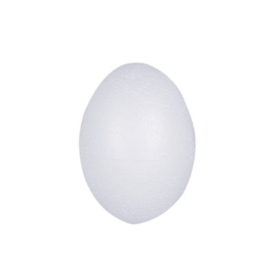 Яйце от стиропор, бял, H 80 mm