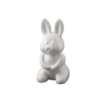 Заек от стиропор, бял, H 240 mm