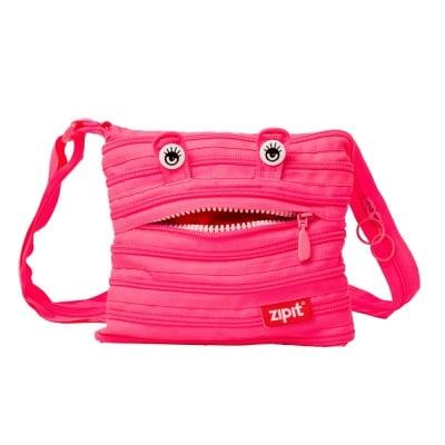 Чанта през рамо Monsters, 22x3x20cm, розова