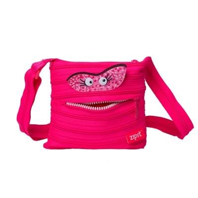 Чанта през рамо Talk Monst, 22x3x20cm, розова