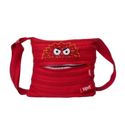 Чанта през рамо Talk Monst, 22x3x20cm, червена
