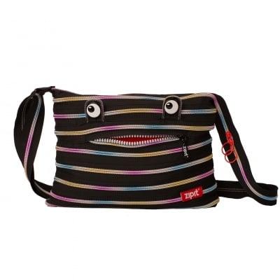 Чанта през рамо, Monsters, 27x3x23cm, черна