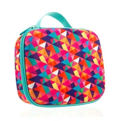Кутия за съхранение Colorz, 21x7.5x13.5cm, цветни триъгълници