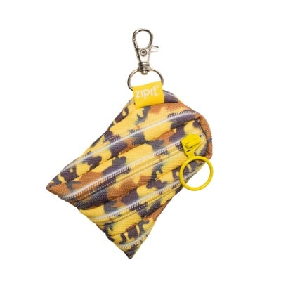 Несесер с ключодържател Camo, жълт камуфлаж
