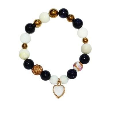 ГРИВНА АВАНТЮРИН И СЕДЕФ - 100% естествени камъни, ръчна изработка, Adventure