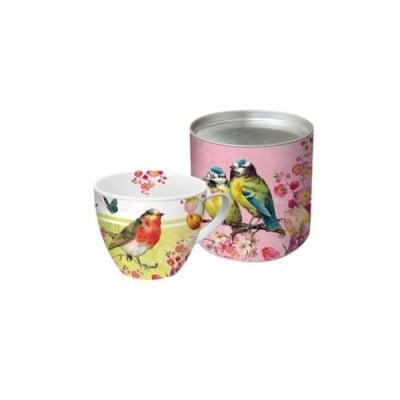 Big Mug Vintage Robin & Roses порцеланова чашка