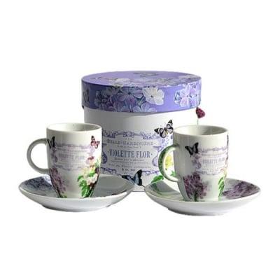 Vintage Violets чаша за еспресо