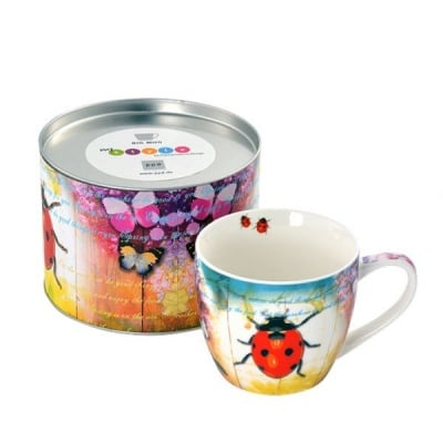 Ladybug & Flowers порцеланова чашка