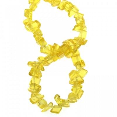 Наниз естествени камъни чипс 8-12 мм ~90 см ЦИТРИН