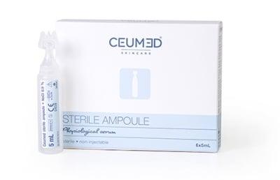 ЦЕУМЕД физиологичен разтвор - за пречистване на малки кожни рани - 5 мл. * 6