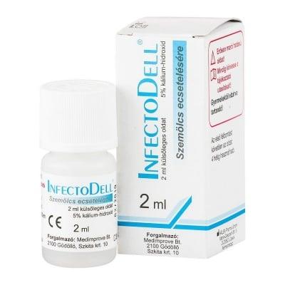 ИНФЕКТОДЕЛ разтвор 5%  2 мл. - за третиране на заразен молуск
